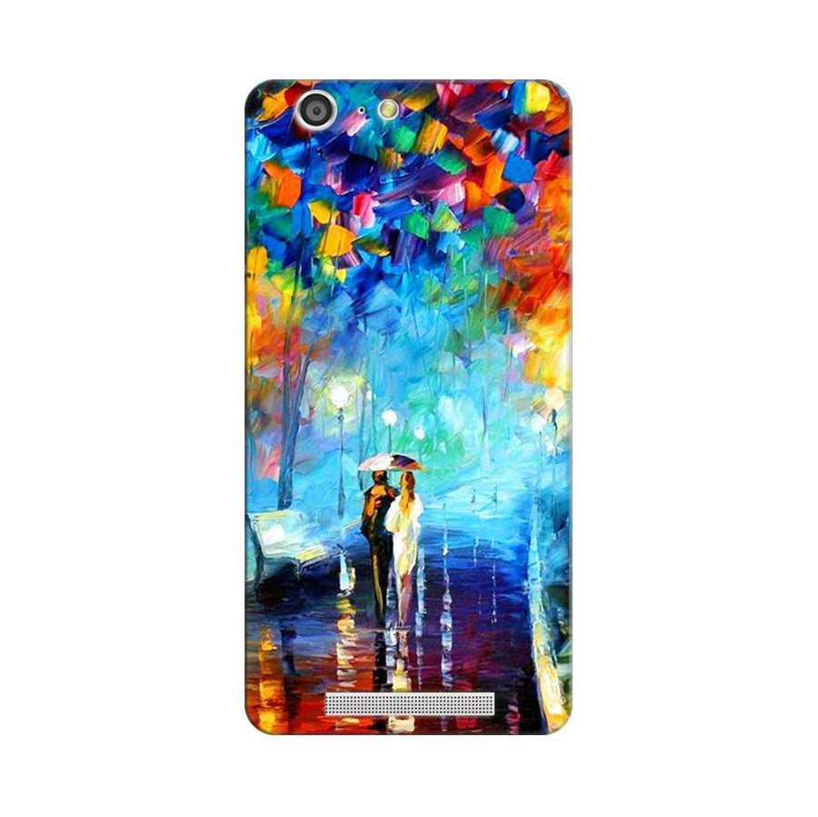 Mangomask Gionee Marathon M5 Mobile Phone Case Back Cover Custom Printed Designer Series Romantic Couple Walk