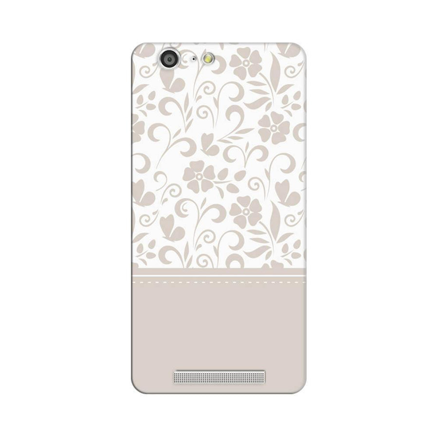 Mangomask Gionee Marathon M5 Mobile Phone Case Back Cover Custom Printed Designer Series White And Beige Floral
