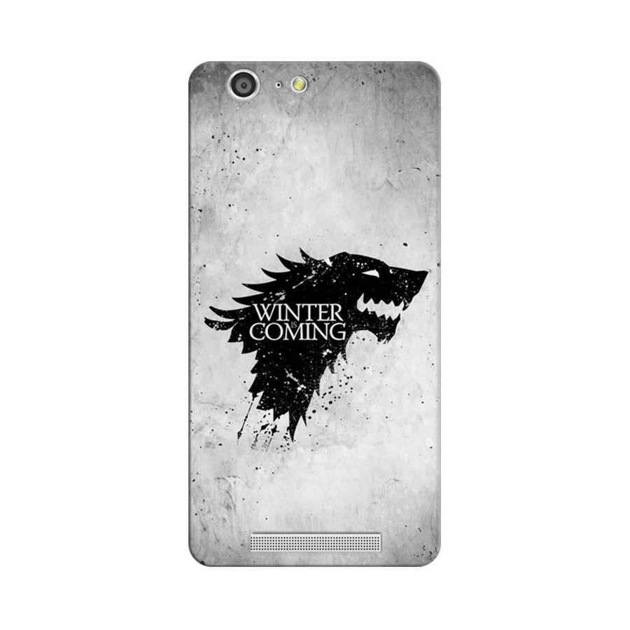 Mangomask Gionee Marathon M5 Mobile Phone Case Back Cover Custom Printed Designer Series White Winter Is Coming Game Of Throne (Got) House Stark