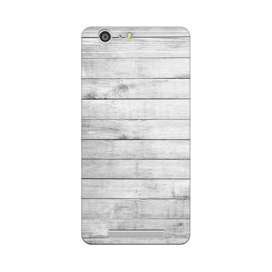 Mangomask Gionee Marathon M5 Mobile Phone Case Back Cover Custom Printed Designer Series White Wood Two