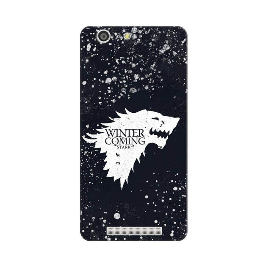 Mangomask Gionee Marathon M5 Mobile Phone Case Back Cover Custom Printed Designer Series Winter Is Coming Game Of Thrones House Stark