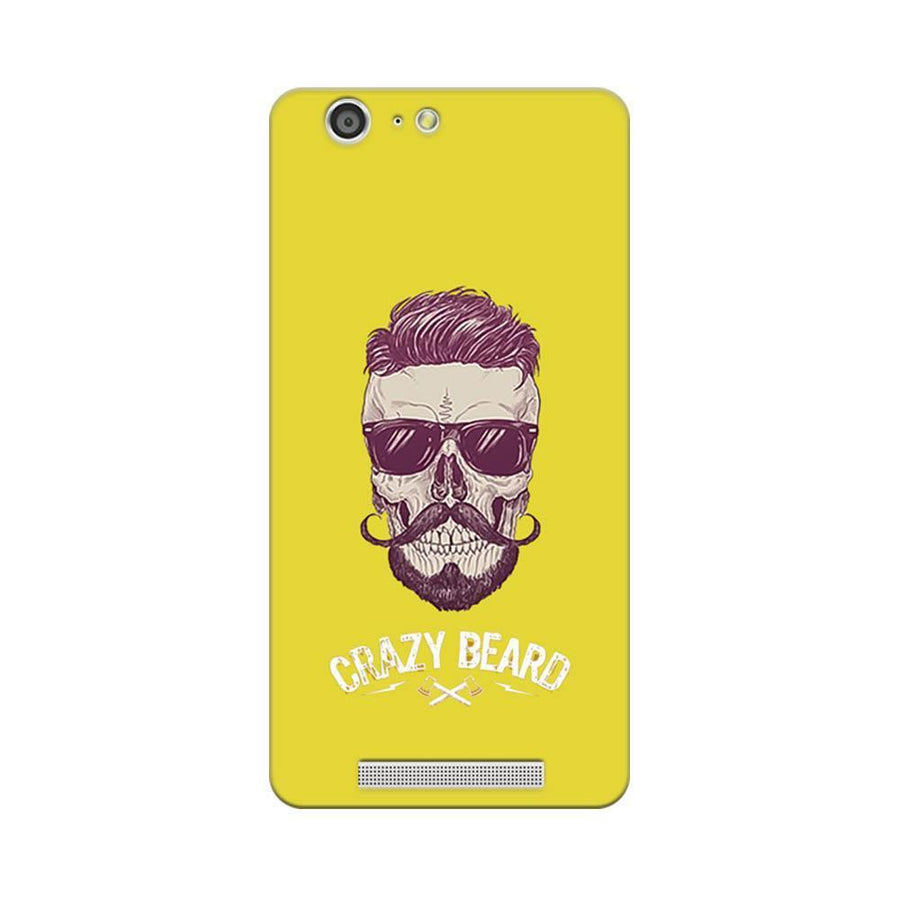 Mangomask Gionee Marathon M5 Mobile Phone Case Back Cover Custom Printed Designer Series Yellow Hipster Skull
