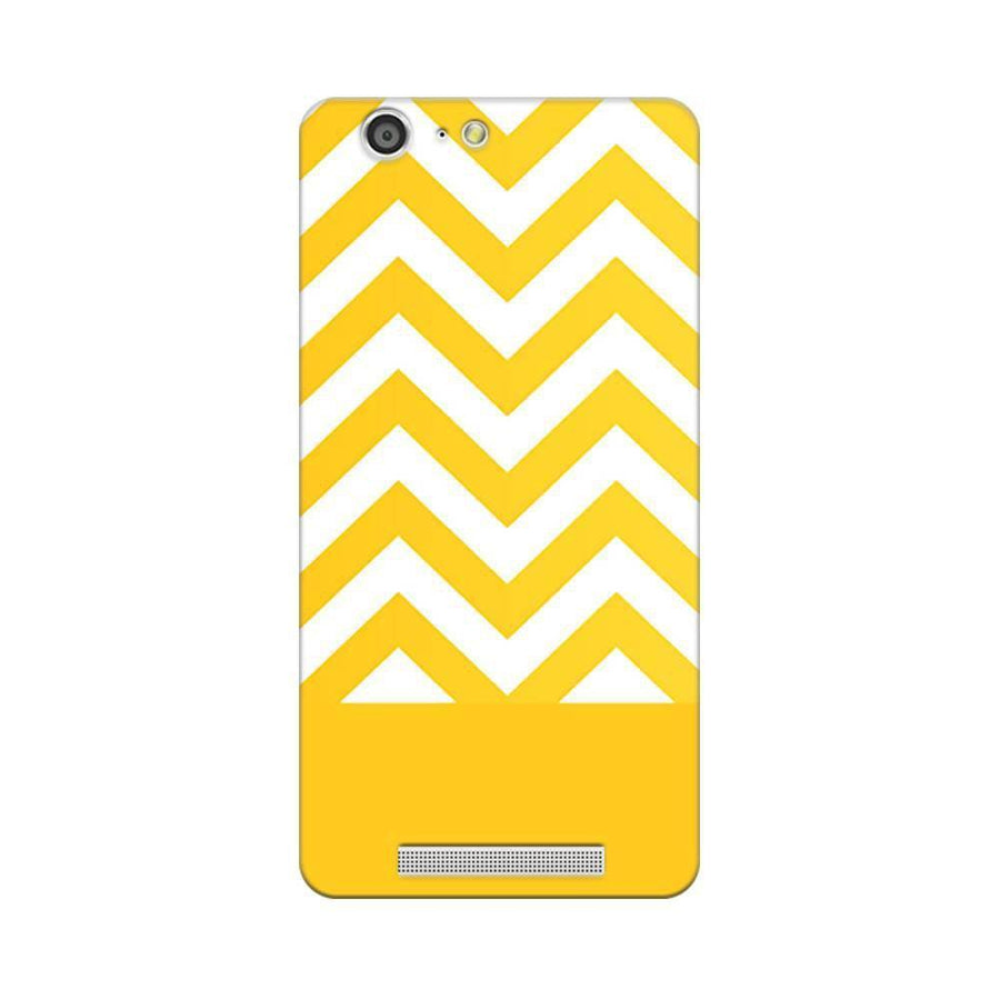 Mangomask Gionee Marathon M5 Mobile Phone Case Back Cover Custom Printed Designer Series Yellow White Pattern