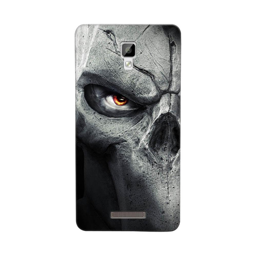 Mangomask Gionee P7 Mobile Phone Case Back Cover Custom Printed Designer Series Serious Skull