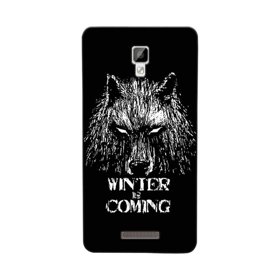 Mangomask Gionee P7 Mobile Phone Case Back Cover Custom Printed Designer Series Wolf Winter Is Coming Game Of Thrones (Got) House Stark