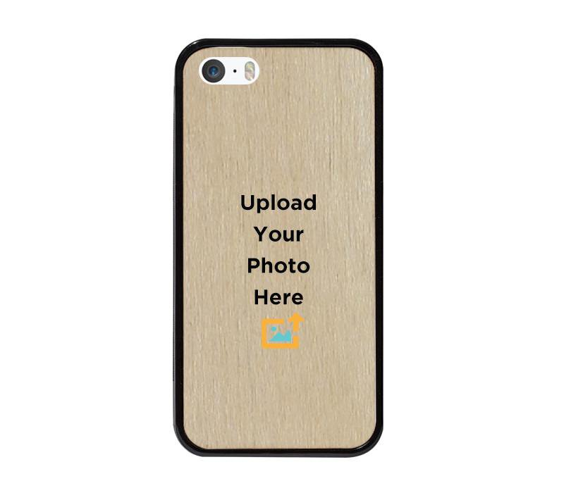 Mangomask IPhone 5/5s/SE Personalized Custom Printed Mobile Real Wood Phone Case Back Cover Design Your Own Case (Template Fifteen)