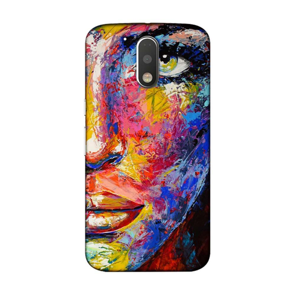 newest collection b0922 dfb68 Mangomask Motorola Moto G4 / G4 Plus Mobile Phone Case Back Cover Custom  Printed Designer Series Woman Face Painting