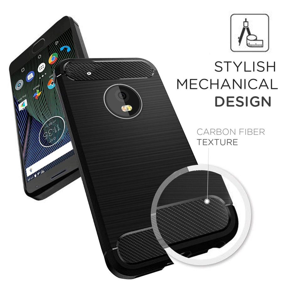 Motorola Moto G5 Plus Black MangoMask - Motorola Moto G5 Plus Mobile Phone Case Back Cover Rig Armor Series