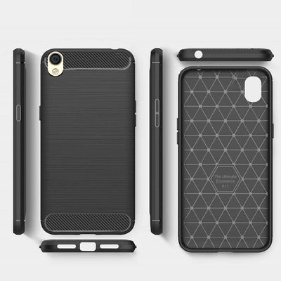 Oppo A37 Black Mangomask - OPPO A37 Mobile Phone Case Back Cover Rig Armor Series