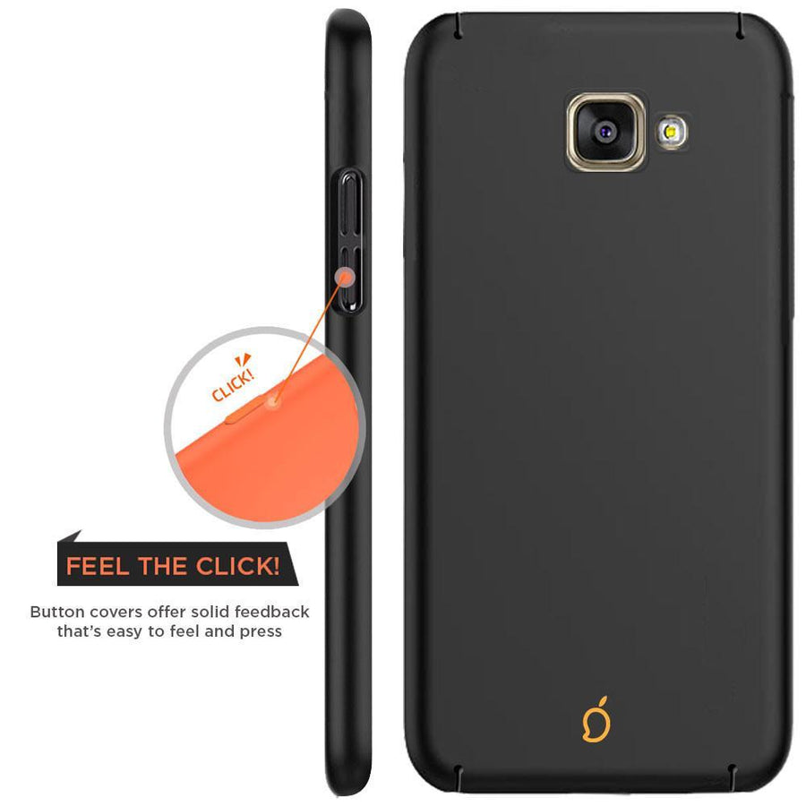 Samsung Galaxy A3 2016 Black Mangomask - Samsung Galaxy A3 2016 (A310 Model )  Mobile Phone Case Back Cover Slim Series
