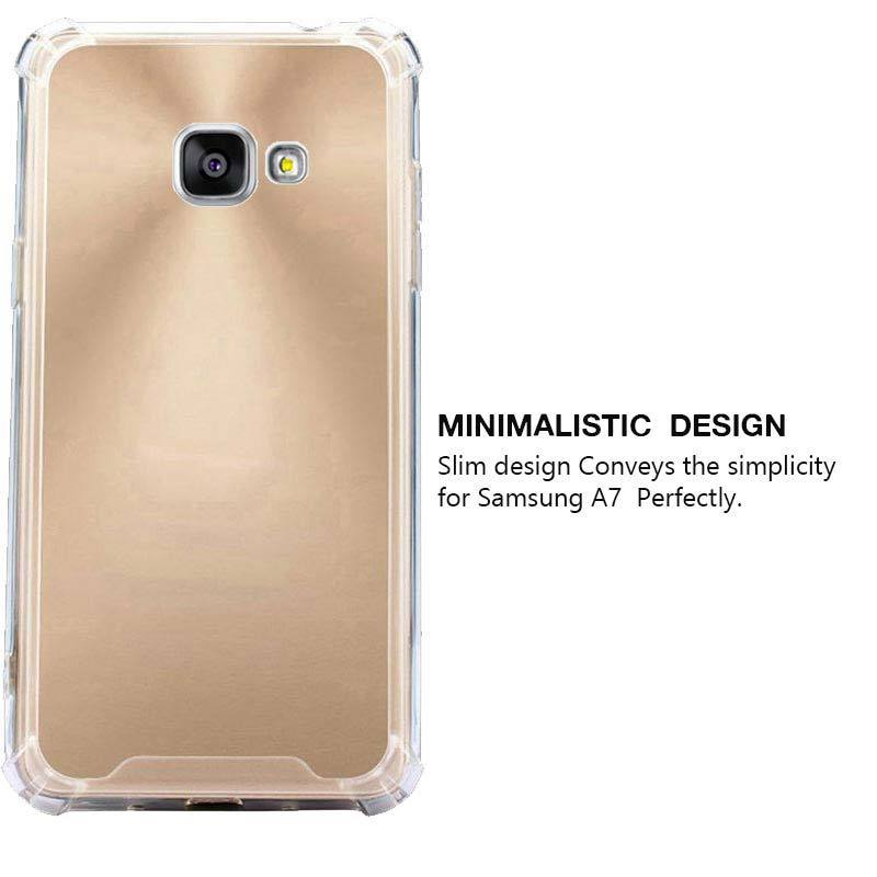Samsung Galaxy A7 2016 Mangomask™ Crystal-Bumper Series - Phone Covers for Samsung Galaxy A7 2016 Ultra Clear - Soft Silicone - TPU Shock Absorption - Bumper Frame