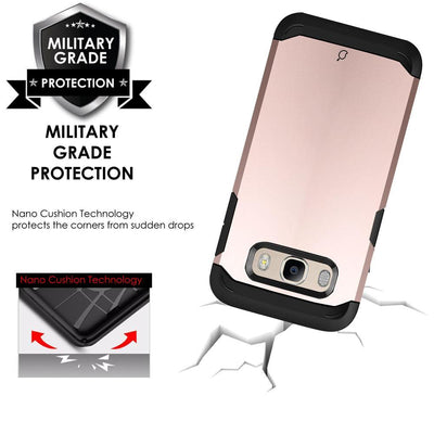 Samsung Galaxy J7 2016 / On8 Rose Gold Mangomask - Samsung Galaxy J7 2016 ( J710 Model) / On8 Mobile Phone Case Back Cover Military Series