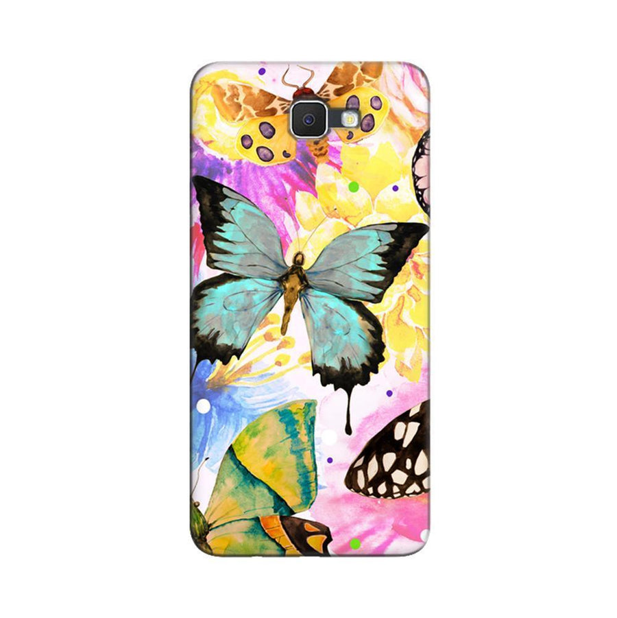 Samsung Galaxy J7 Prime / On7 2016 / On Nxt Mangomask  Samsung Galaxy J7 Prime / On7 2016 / On Nxt / J7 Prime 2 Mobile Phone Case Back Cover Custom Printed Designer Series Butterfly Floral