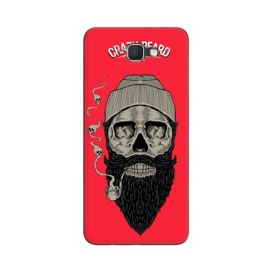 Samsung Galaxy J7 Prime / On7 2016 / On Nxt Mangomask  Samsung Galaxy J7 Prime / On7 2016 / On Nxt / J7 Prime 2 Mobile Phone Case Back Cover Custom Printed Designer Series Crazy Beard Skull
