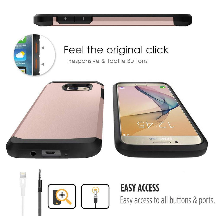 Samsung Galaxy J7 Prime / On7 2016 / On Nxt Rose Gold Mangomask - Samsung Galaxy J7 Prime 2016 / On Nxt / On7 2016 Mobile Phone Case Back Cover Military Series