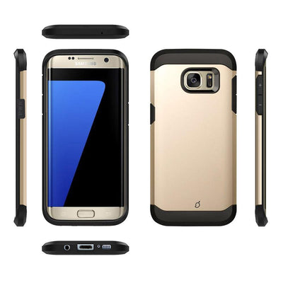 Samsung Galaxy S7 Edge Gold Mangomask - Samsung Galaxy S7 Edge Mobile Phone Case Back Cover Military Series