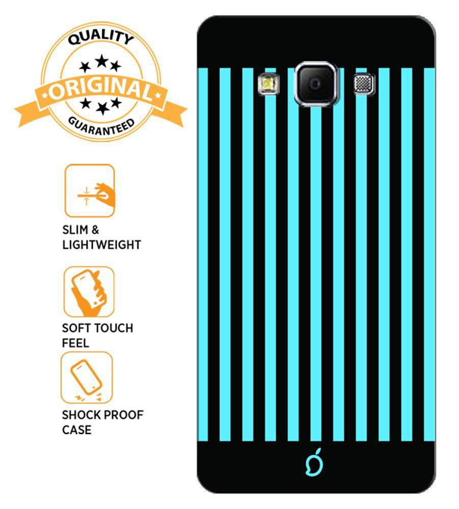 detailed look eeda3 43f43 Mangomask Samsung Galaxy A5 Mobile Phone Case Back Cover Custom Printed  Neon Series Deep Sky Blue Striped Eight