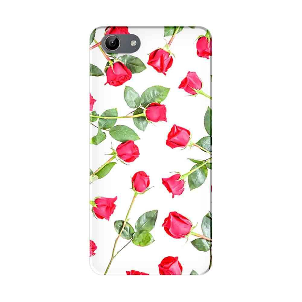 Mangomask Vivo Y71 Mobile Phone Case Back Cover Custom Printed Designer  Series Red Roses Floral