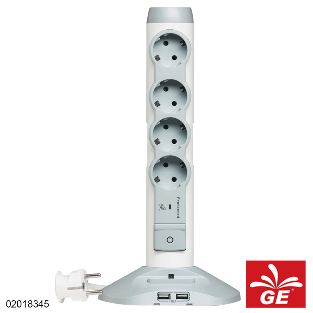 Legrand 694614 Tower Moe 4 Lubang 2 USB 02018345