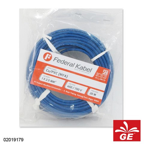 KABEL FEDERAL NYA 1 X 2.5MM 20M BR 02019179