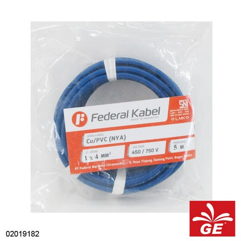 KABEL FEDERAL NYA 1 X 4MM 5M BR 02019182
