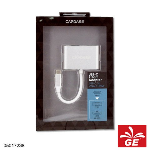 CAPDASE AVOO-V20S 2 PORT USB C - VGA AND HDMI 05017238
