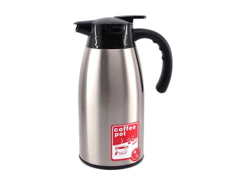 THERMOS KOPI / TEH, HOT & COLD 2 LITER, DOUBLE WALL B-1219, SLV
