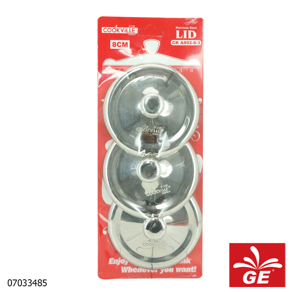 Cook Ville Tutup Gelas CKA802-8-3 3 Pcs Stainless Steel 07033485