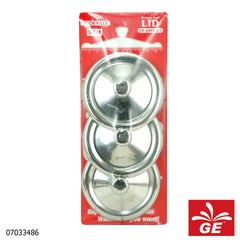 Cook Ville Tutup Gelas CKA802-9-3 3 Pcs Stainless Steel 07033486