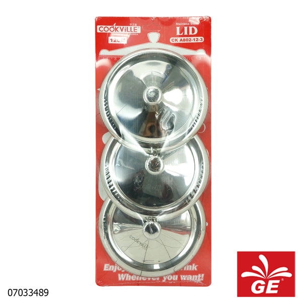 Cook Ville Tutup Gelas CKA802-12-3 3 Pcs Stainless Steel 07033489