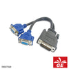 Kabel DVI 59 Pin to 2x VGA Female 25cm 09007549
