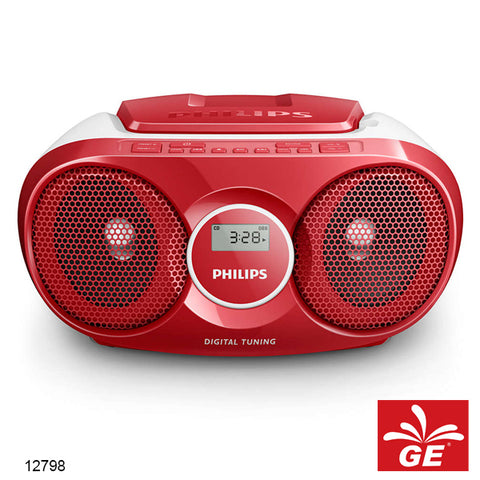 PHILIPS AZ215 MERAH SOUND MACHINE PEMUTAR CD/FM RADIO MODEL BARU 12798