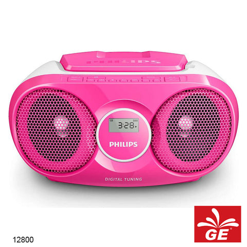 PHILIPS AZ215 PINK SOUND MACHINE PEMUTAR CD/FM RADIO MODEL BARU 12800