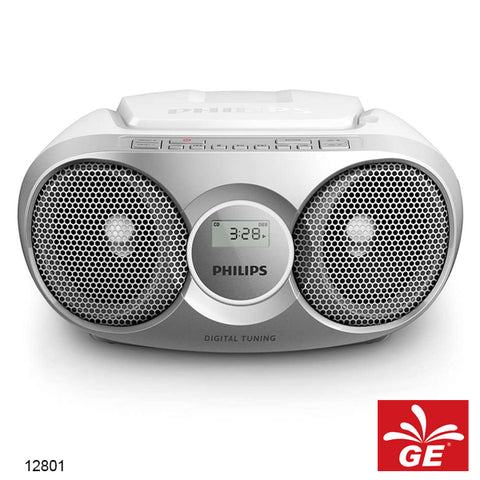 PHILIPS AZ215 SILVER SOUND MACHINE PEMUTAR CD/FM RADIO MODEL BARU 12801