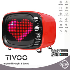 Speaker Bluetooth DIVOOM Tivoo Inspired By Light & Sound Hitam/Merah 05017620/21