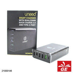 UNEED SMART CHARGER TYPE-C PORT UCH07Q3 21000146