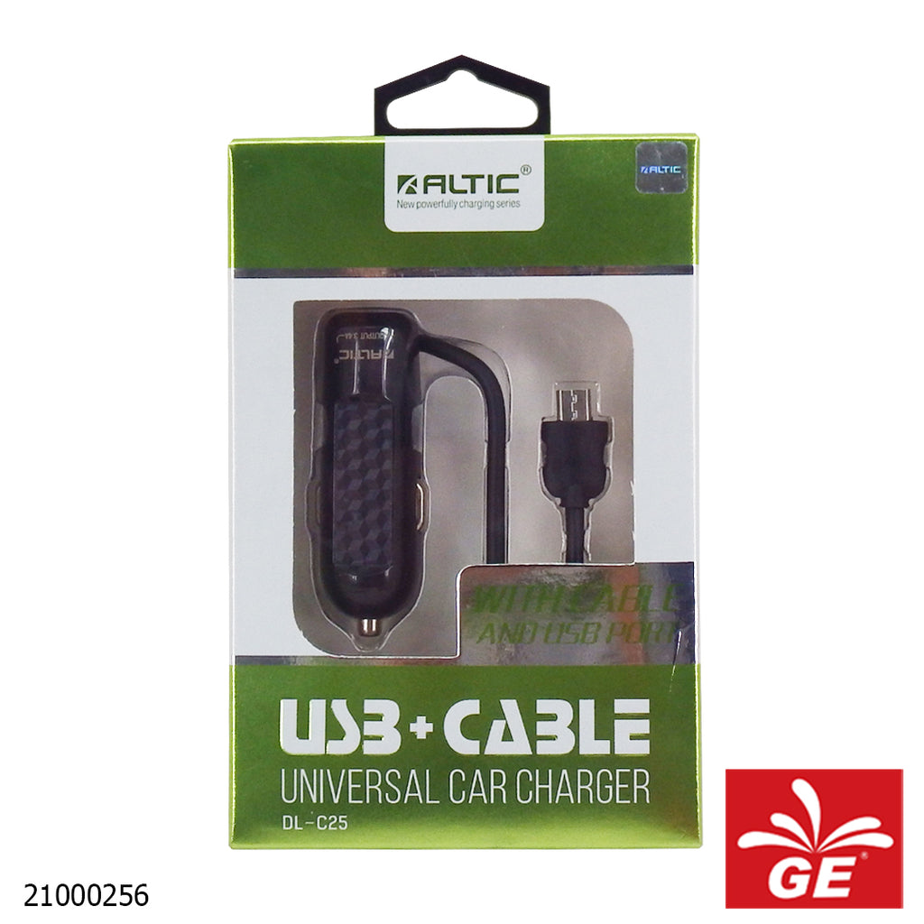 Altic Saver DL-C25 USB With Cable Universal Car Charger 21000256