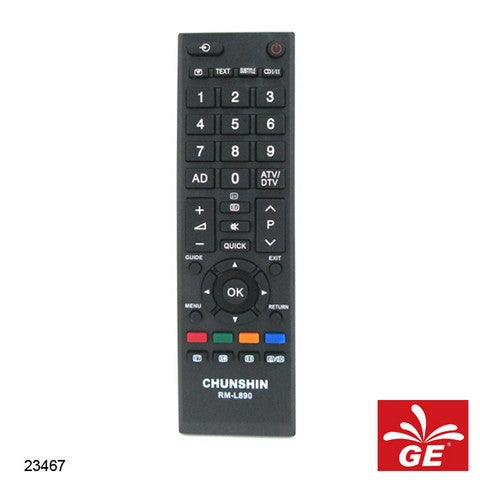 REMOTE CHUNSHIN LCD / LED TV RM-L890 TOSHIBA 23467