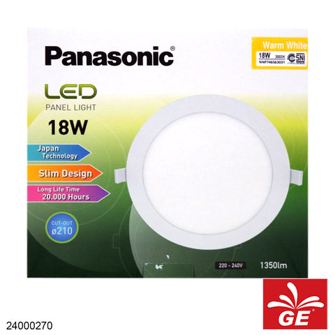 "PANASONIC NNP746563 9"" 18W/6500K Warm WHite LED PANEL 24000270"
