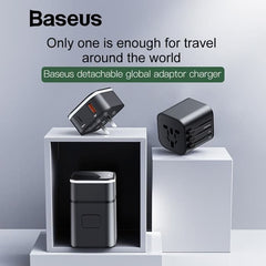Adaptor BASEUS Removable Travel Charge 2in1 Hitam 21000334