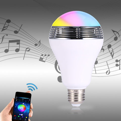 Smart Lampu LED + Bluetooth Speaker