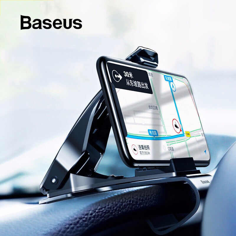 Holder Jepit BASEUS Mouth Car Mount Hitam 40001373