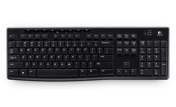 Logitech K270 Wireless Keyboard - Hitam