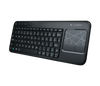 Logitech K400 Wireless Touch Keyboard with Built-In Multi-Touch Touchpad, Black