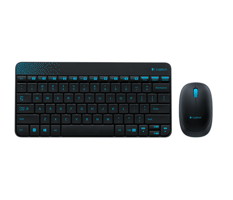 Logitech MK240 Wireless Combo Keyboard + Mouse - Black