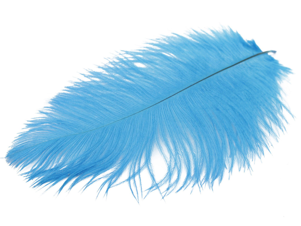 "Blue Ostrich Feathers Drabs (19-22"")"