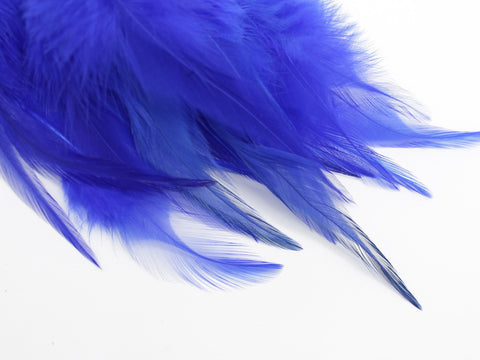 Blue Rooster Saddle Feathers