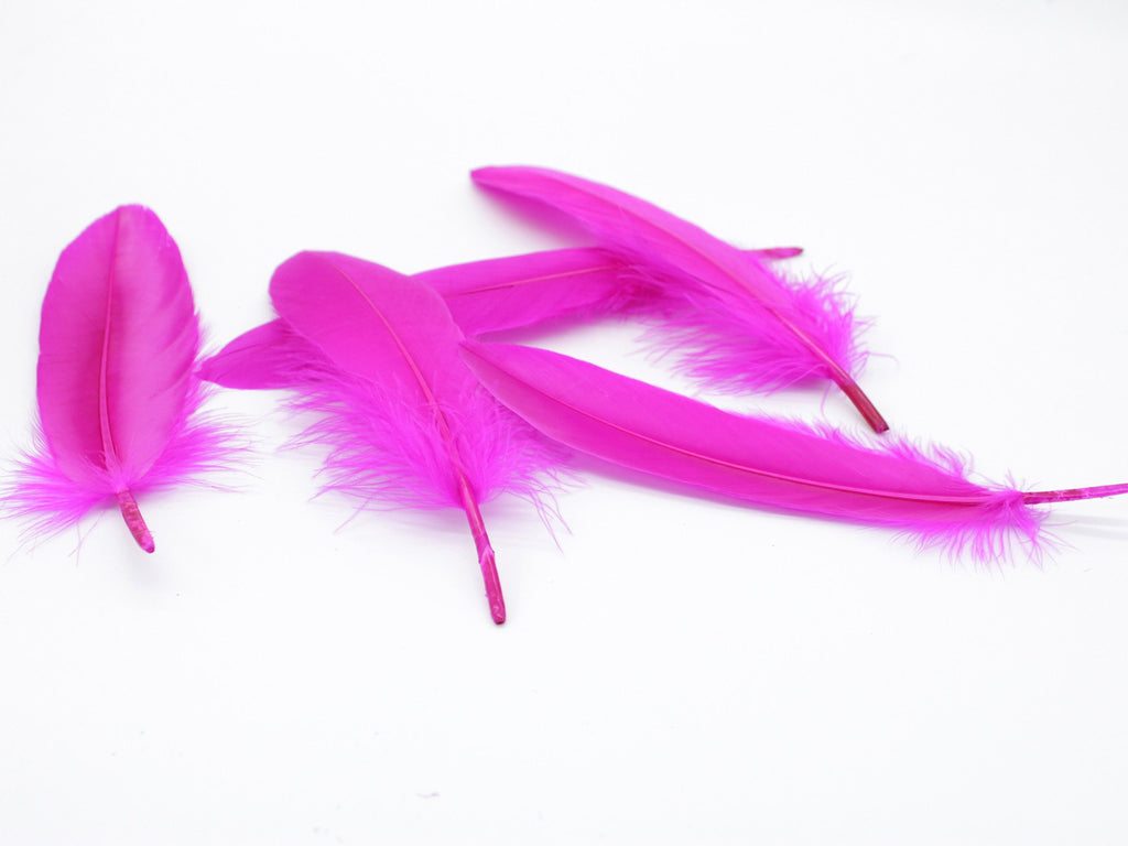 "Magenta Goose Satinettes Loose Feather (6-8"")"