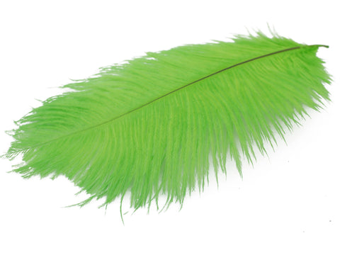 "Green Ostrich Feathers Drabs (19-22"")"
