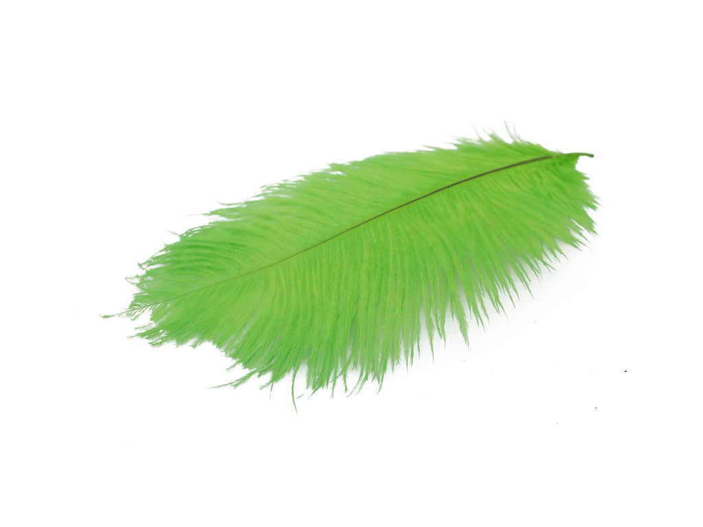 "Green Ostrich Feathers Drabs (10-12"")"